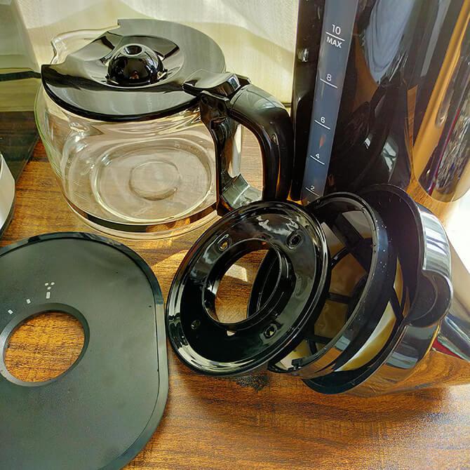 シロカの全自動コーヒーメーカー SC-10c151の水洗い