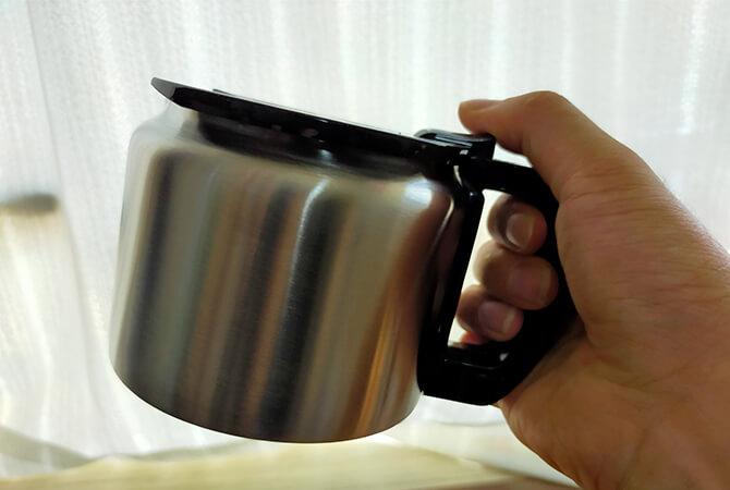 シロカの全自動コーヒーメーカー「カフェばこ SC-A371」のステンレスカラフェ