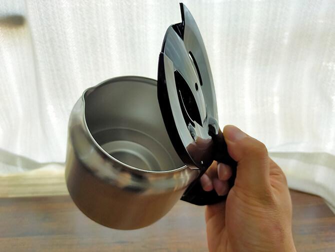 シロカの全自動コーヒーメーカー「カフェばこ SC-A371」のカラフェ