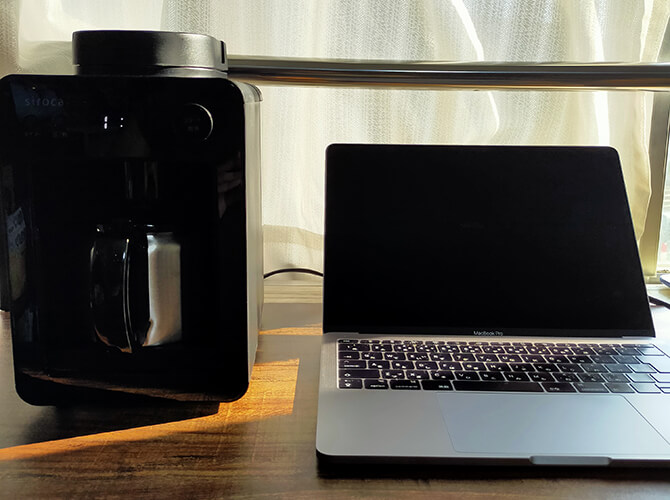 シロカの全自動コーヒーメーカー「カフェばこ SC-A371」のデザイン性