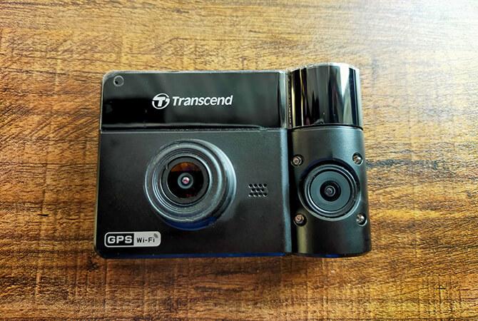 トランセンド DrivePro550Aのデュアルレンズ