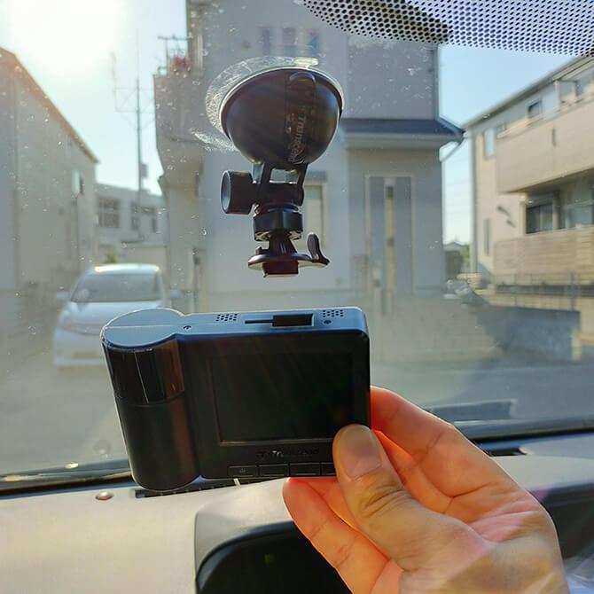 トランセンド DrivePro550Aの設置方法