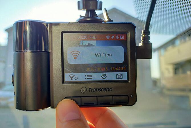 トランセンド DrivePro550Aのアプリ接続