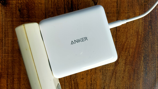 Anker PowerCore III Fusion 5000を急速充電器として使う