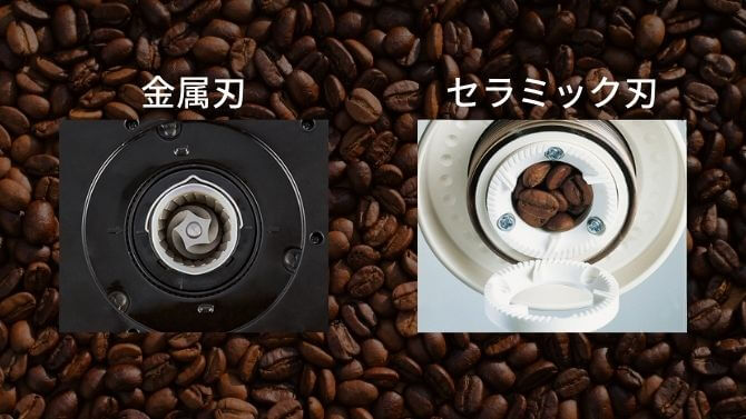 電動コーヒーミルの刃の素材で選ぶ