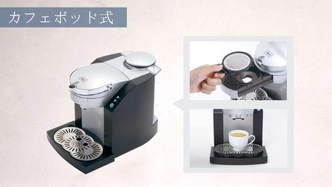 メリタのカフェポッド式コーヒーメーカー