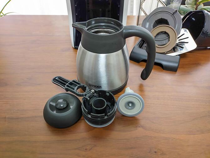 タイガーのコーヒーメーカーACT-E040の手入れ方法