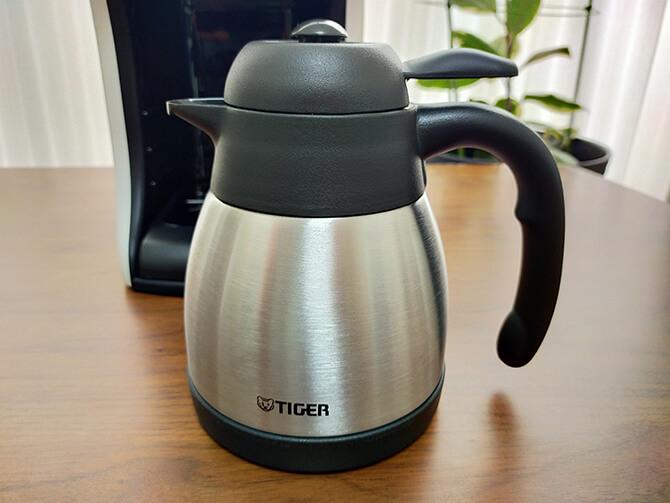 タイガーのコーヒーメーカーACT-E040のステンレス製まほうびんサーバー
