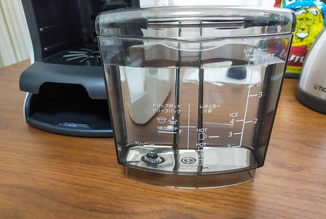 タイガーのコーヒーメーカーACT-E040の水タンク