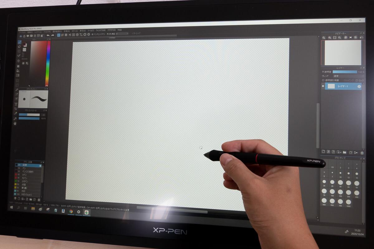 Artist 24 Proを使って描き心地を検証 実際にお絵描き