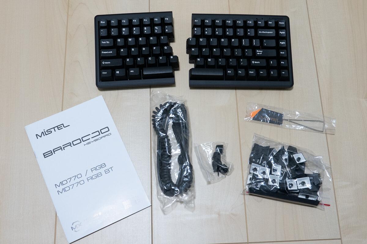 Mistel BAROCCO MD770RGB付属品