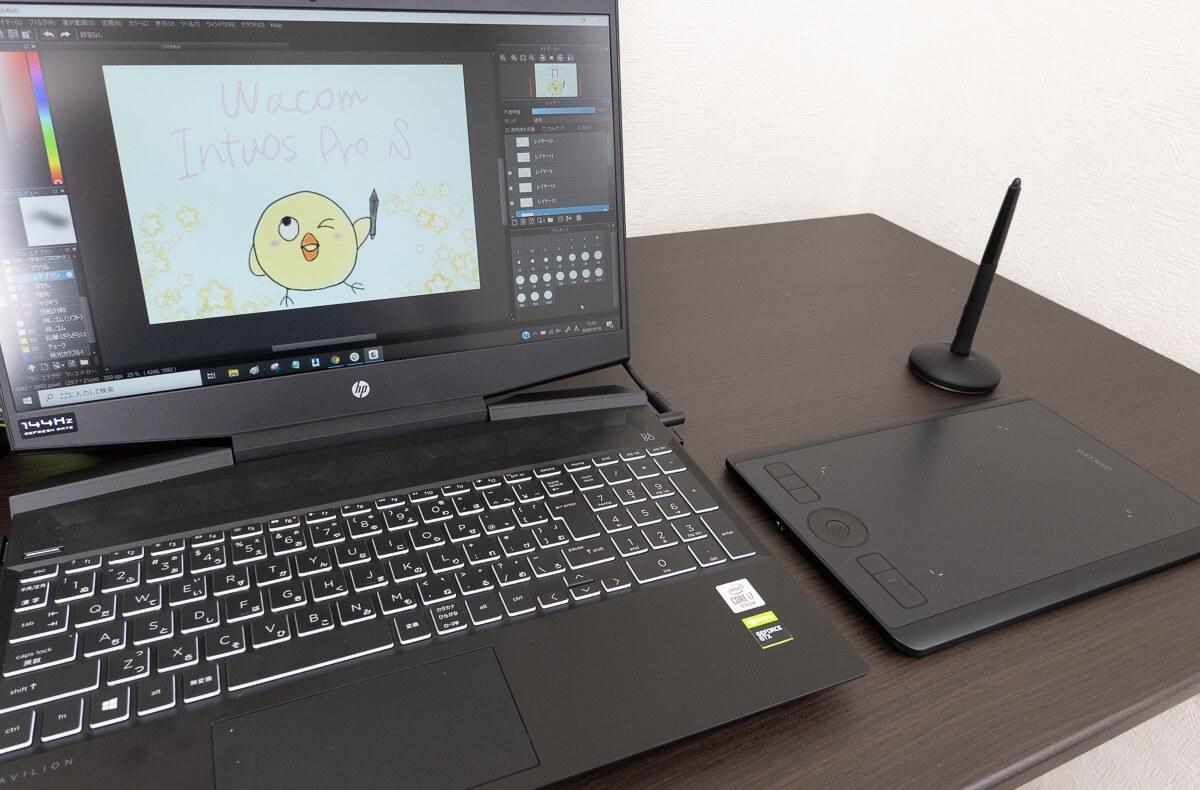 Wacomのペンタブ「Intuos Pro」を使ってお絵描きレビュー!Intuosとの違いも比較