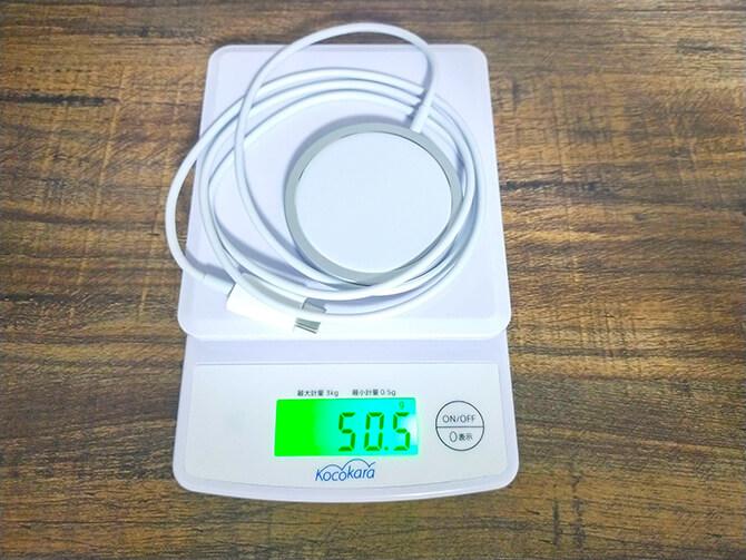 AppleのMagSafe充電器の重さ