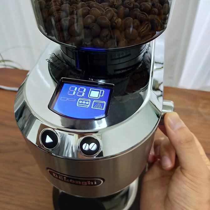 デロンギの電動コーヒーミル「デディカ KG521J-M」の杯数選択