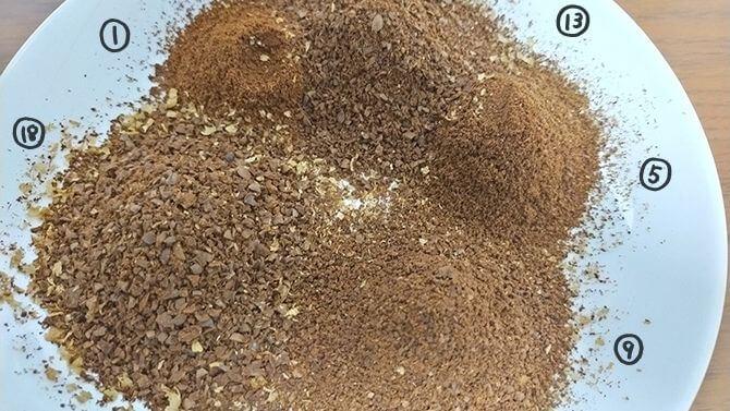 デロンギの電動コーヒーミル「デディカ KG521J-M」の挽き目