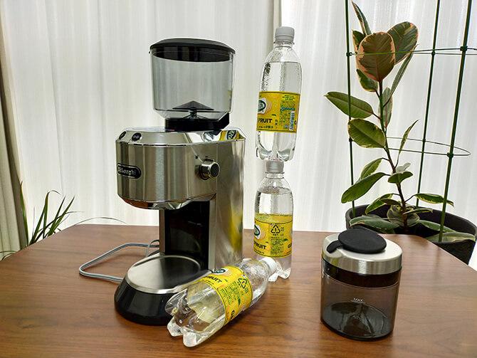 デロンギの電動コーヒーミル「デディカ KG521J-M」のサイズ感