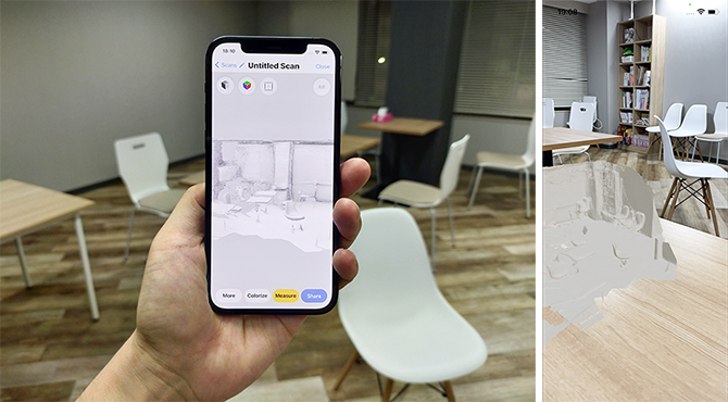 iPhone 12 ProのLiDARスキャナを使った3DとAR