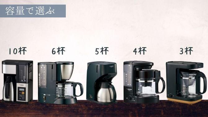 象印コーヒーメーカーを容量で選ぶ