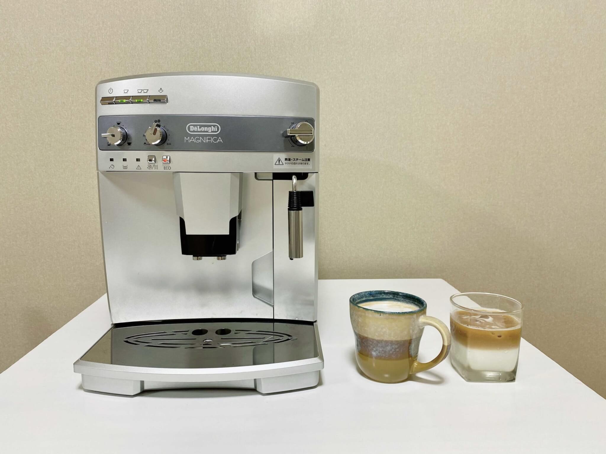 デロンギ「マグニフィカ ESAM03110」で家カフェ体験レビュー!簡単操作で自分好みの一杯がつくれる!