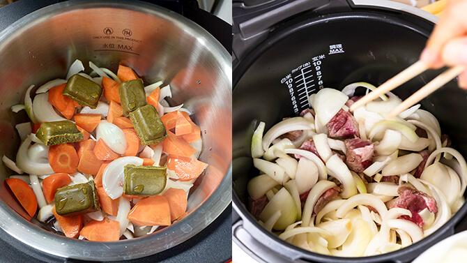 ホットクックとクックフォーミー エクスプレスの調理工程