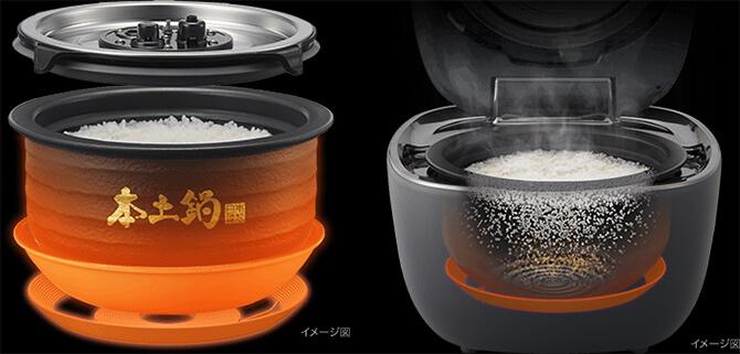 タイガーの炊飯器「JPL-A100」の土鍋ご泡火炊き