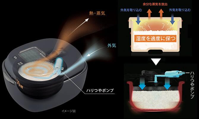 タイガーの炊飯器「JPL-A100」のおひつ保温