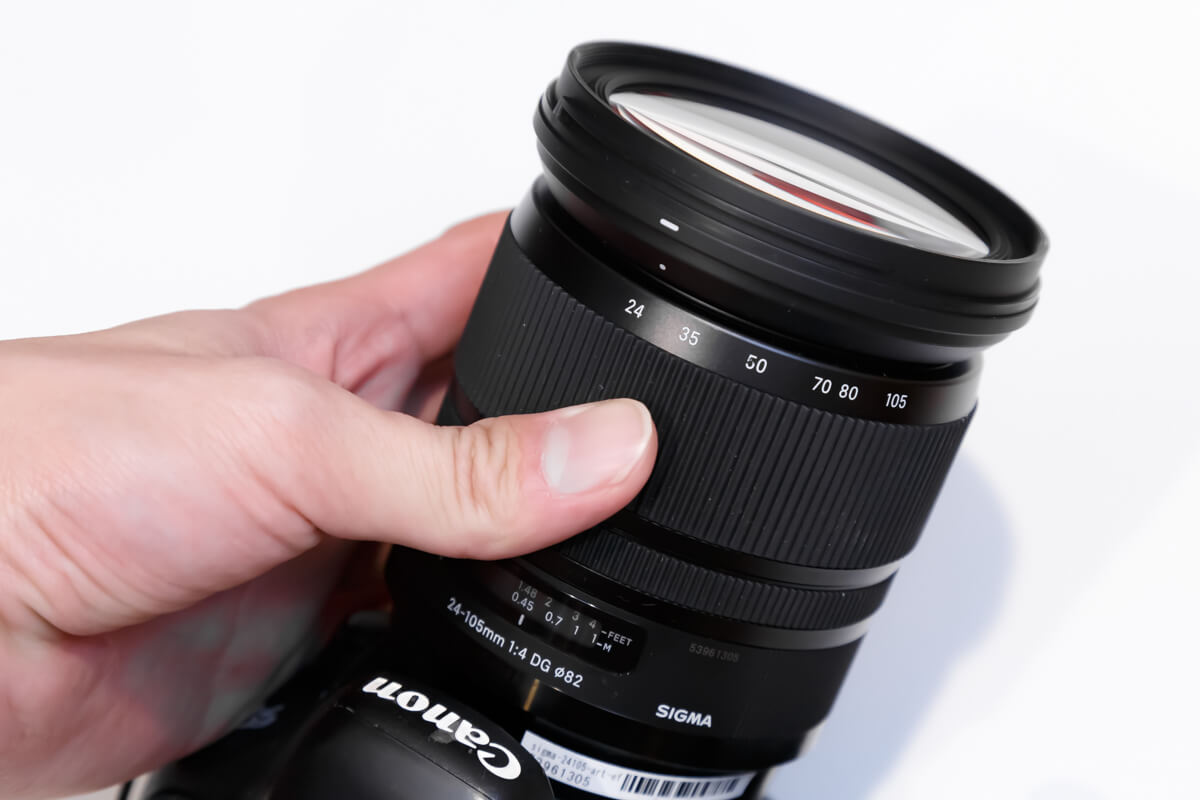 SIGMA 24-105mm F4 DG OS HSM Art ズームリング