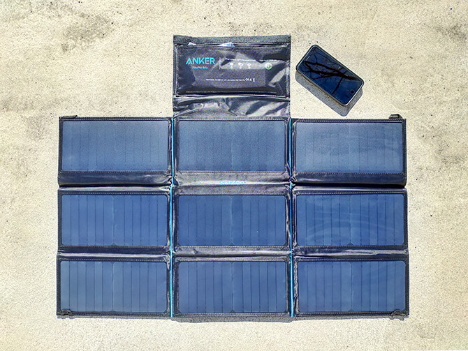 Anker PowerPort Solar 60の出力チェック