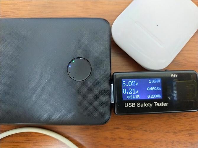 Anker PowerCore Slim 10000 PD 20Wの低電流モード