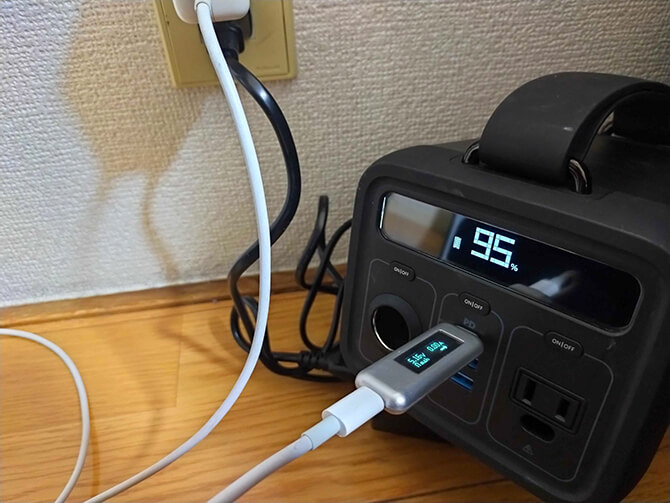 Anker PowerHouse 200は同時充電できない