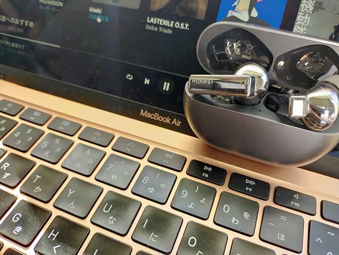 HUAWEI FreeBuds Proのパソコン操作