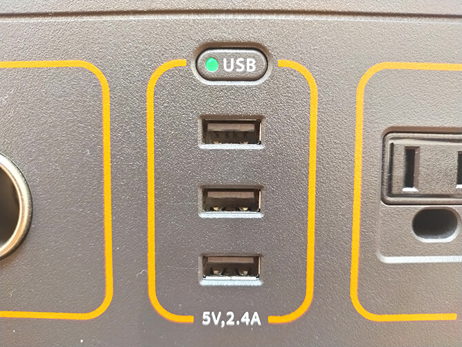 Jackery(ジャクリ)のポータブル電源700のUSBポートの注意点
