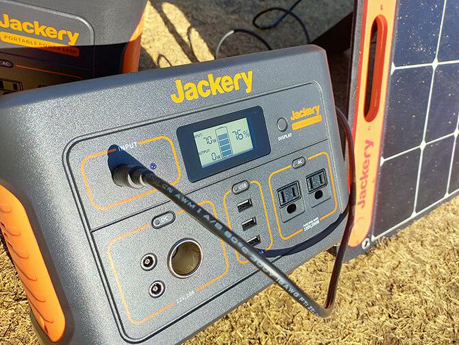 Jackeryのソーラーパネル100のDC出力チェック