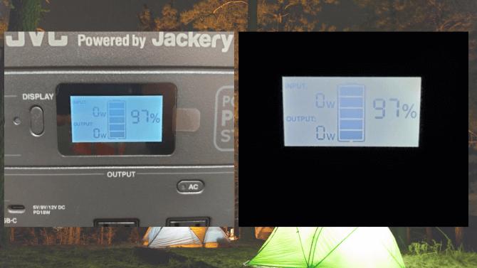 JVCケンウッドのBN-RB10-Cの液晶ディスプレイ