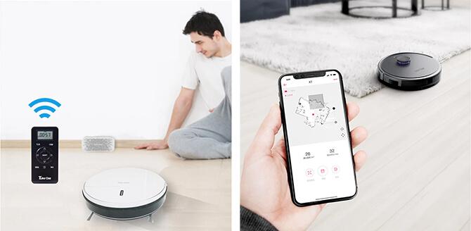 テイクワンテクノロジーのロボット掃除機の予約機能