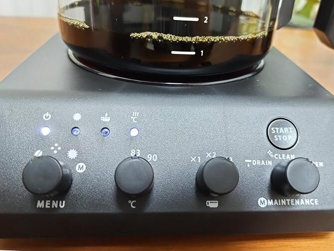 ツインバードの全自動コーヒーメーカー CM-D457Bの83度抽出