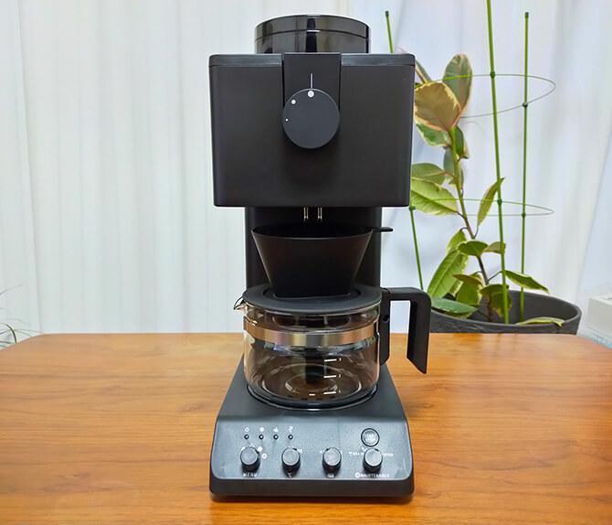 ツインバードの全自動コーヒーメーカー CM-D457Bの外観