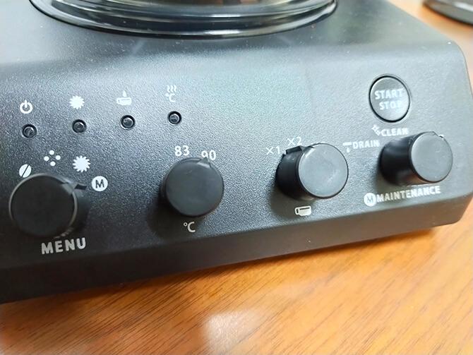 ツインバードの全自動コーヒーメーカー CM-D457Bの湯温設定