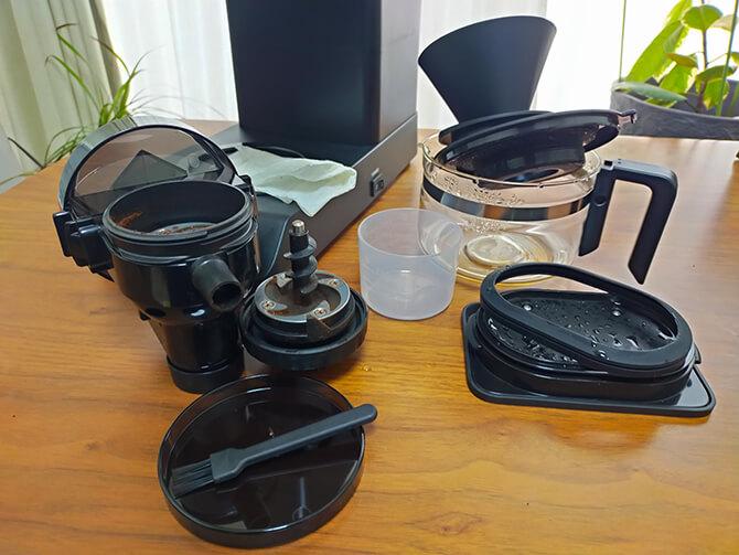 ツインバードの全自動コーヒーメーカー CM-D457Bの手入れ方法