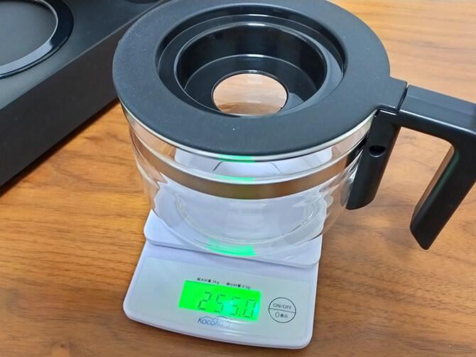 ツインバードの全自動コーヒーメーカー CM-D457Bのガラスサーバー