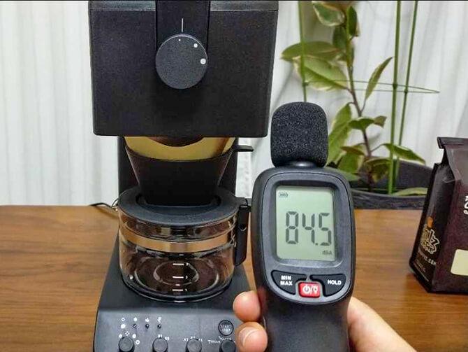 ツインバードの全自動コーヒーメーカー CM-D457Bの騒音