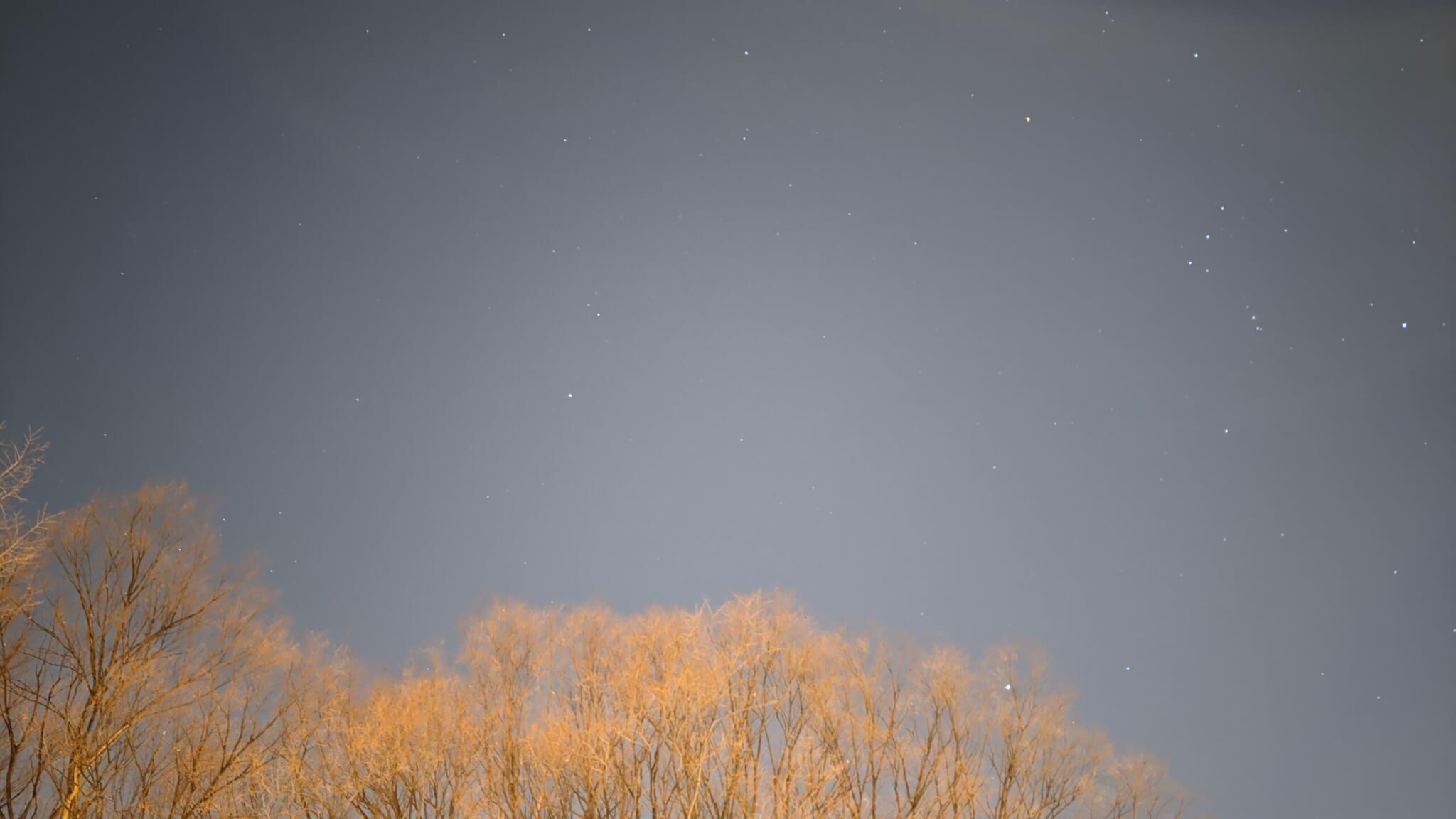 Google Pixel 5の星空撮影モード