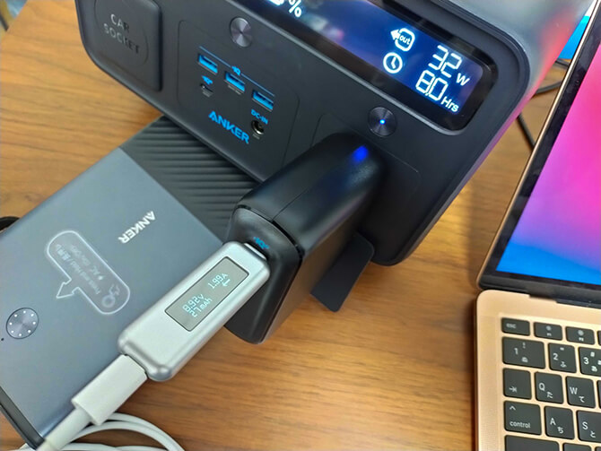 Anker PowerCore Fusion 10000の出力チェック