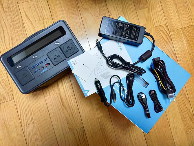 Anker PowerHouse II 800に同梱するセット内容