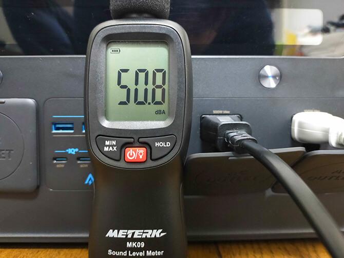 Anker PowerHouse II 800の動作音