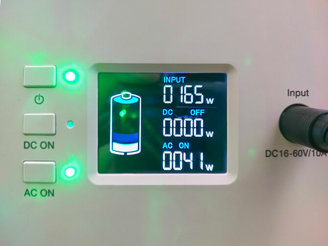 BLUETTI EB150のパススルー充電