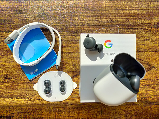 Google Pixel Budsのセット内容