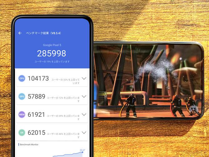 Google Pixel 5のベンチマークスコア