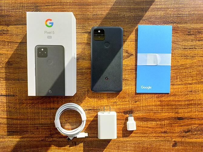 Google Pixel 5のセット内容