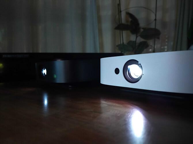 Nebula SolarとNebula Vega Portableの輝度、ルーメン